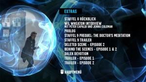 Staffel 9 Doctor Who Menü Extra