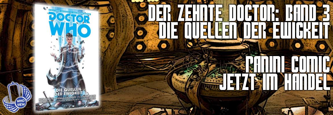 Jetzt im Handel: Der zehnte Doctor – Band 3: Die Quellen der Ewigkeit