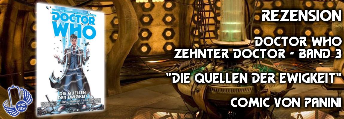 Rezension: Zehnter Doctor – Band 3: Die Quellen der Ewigkeit | Comic von Panini