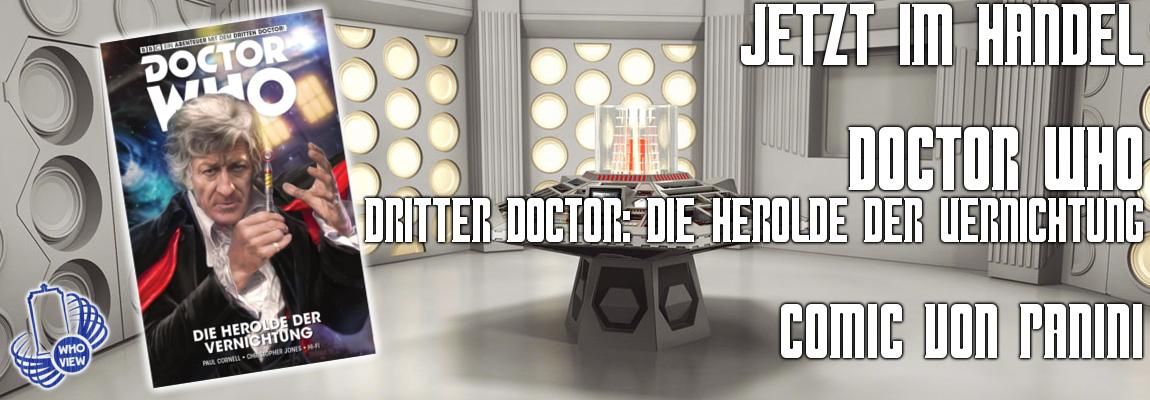 """Jetzt im Handel: Dritter Doctor – """"Die Herolde der Vernichtung""""   Comic von Panini!"""