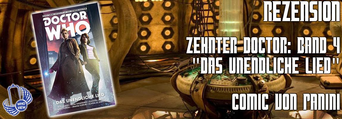 Rezension: Zehnter Doctor: Band 4 – Das unendliche Lied   Comic von Panini