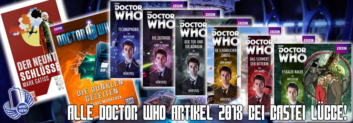 Alle kommenden deutschen Doctor Who Bücher, Hörbücher & Hörspiele 2018