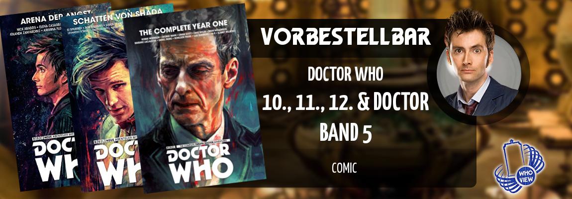Vorbestellbar | 10., 11. & 12. Doctor – Band 5 | Comic