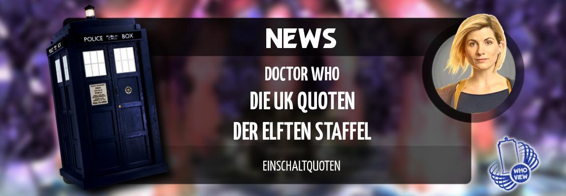 News | Doctor Who – Die UK Quoten der elften Staffel | Einschaltquoten