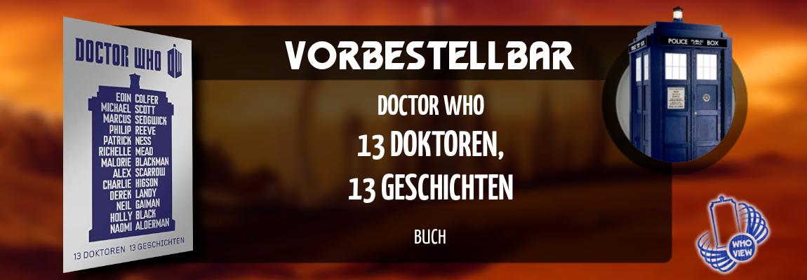 Vorbestellbar | Doctor Who – 13 Doktoren, 13 Geschichten | Buch