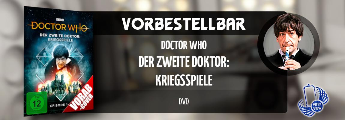Vorbestellbar | Doctor Who – Der zweite Doktor: Kriegsspiele | DVD