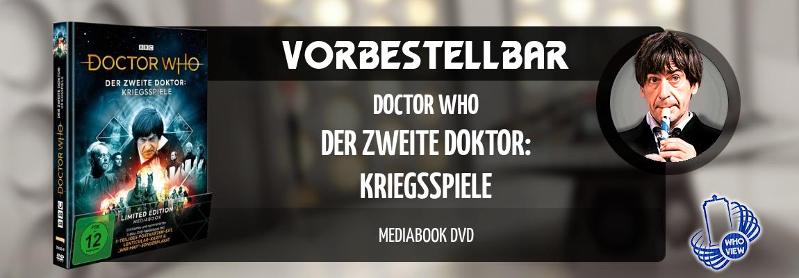 Vorbestellbar | Doctor Who – Der zweite Doktor: Kriegsspiele | Mediabook DVD