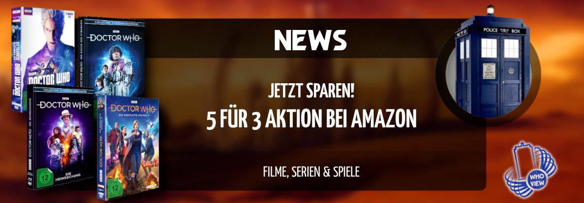 News | Jetzt Sparen: 5 für 3 Aktion bei Amazon | Filme, Serien & Spiele