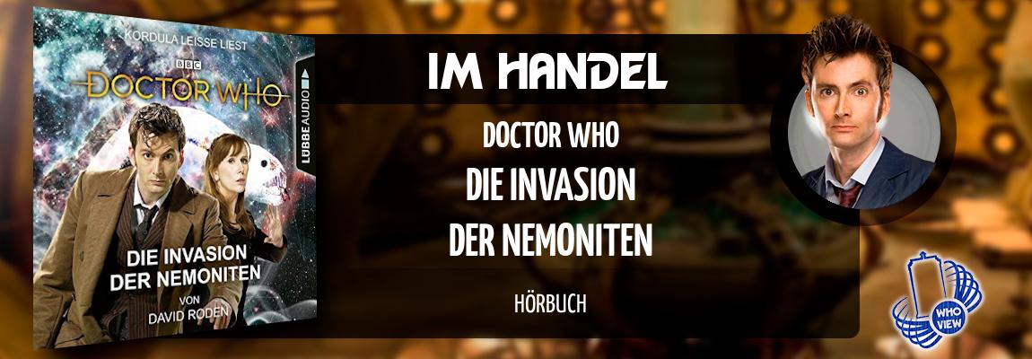 Im Handel | Doctor Who – Die Invasion der Nemoniten | Hörbuch als Download