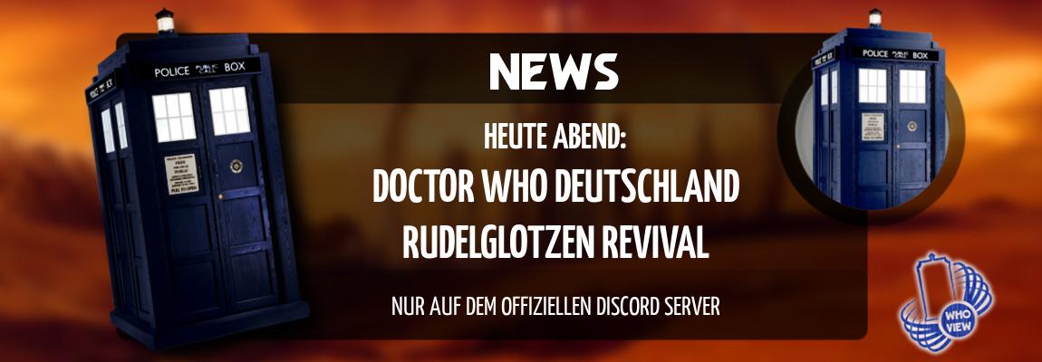 News | Heute Abend: Doctor Who Deutschland Rudelglotzen Revival | Nur auf Discord