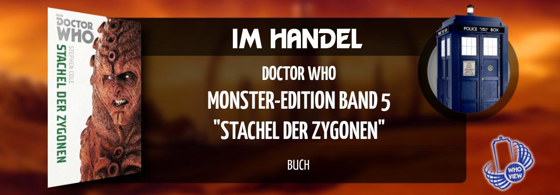 Im Handel | Doctor Who – Monster Edition 5: Stachel der Zygonen | Buch