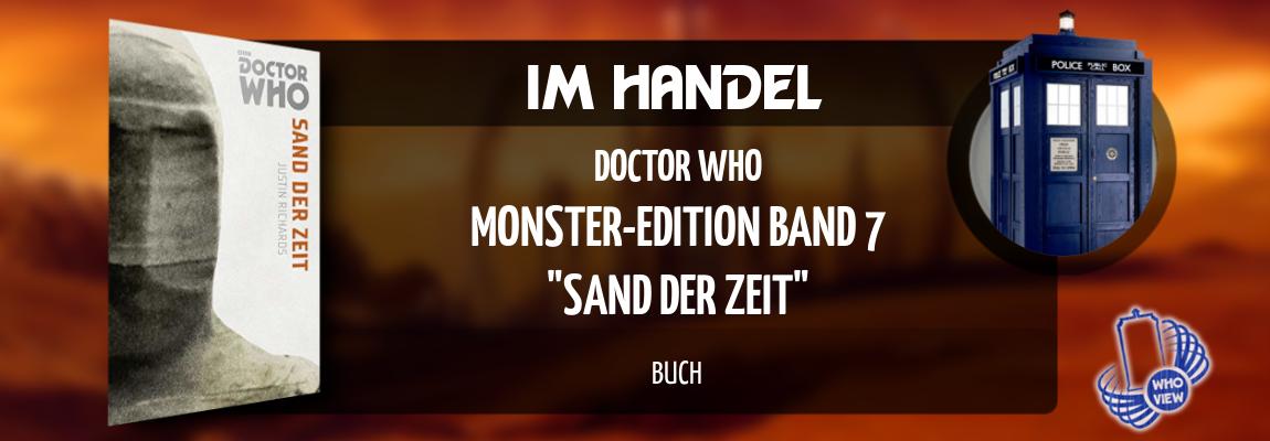 Im Handel | Doctor Who – Monster-Edition 7: Sand der Zeit | Buch