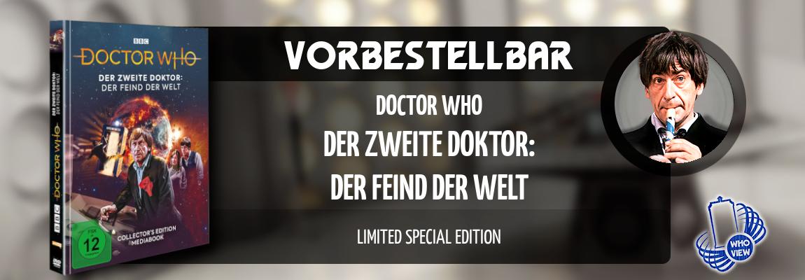 Vorbestellbar | Doctor Who – Der zweite Doktor: Der Feind der Welt | Limited Special Edition