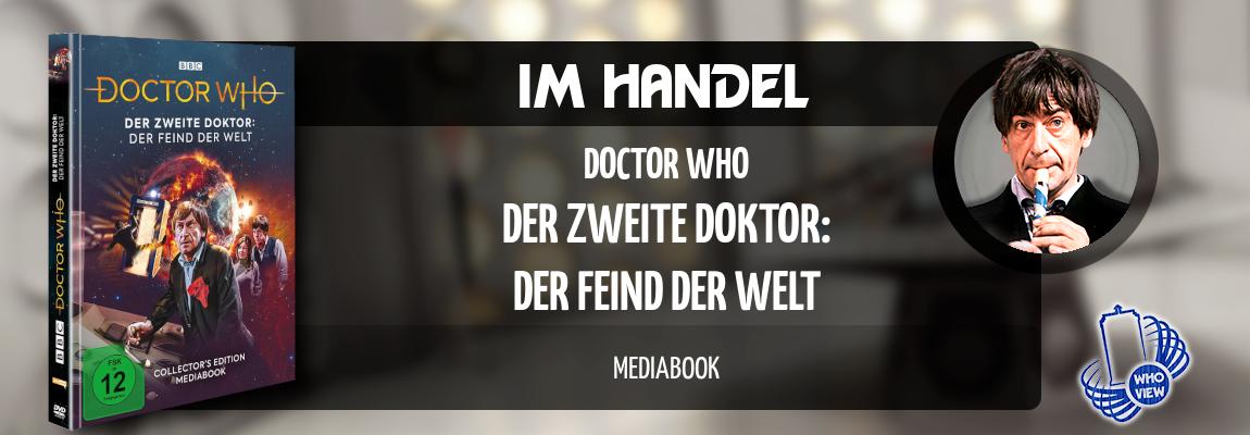 Im Handel | Doctor Who – Der zweite Doktor: Der Feind der Welt | DVD Mediabook