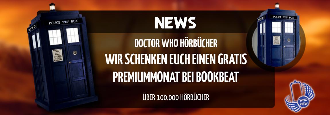 News | Wir schenken euch einen Gratis Premiummonat bei BookBeat | Doctor Who Hörbücher & Hörspiele
