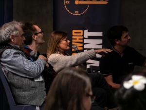 Sylvester McCoy, Andrew Cartmel, Sophie Aldred auf der TimeLash
